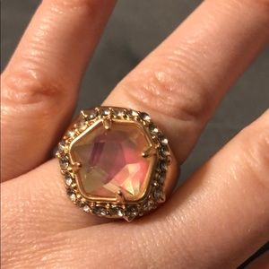 Kendra Scott Gold Pink Crystal Cocktail Ring